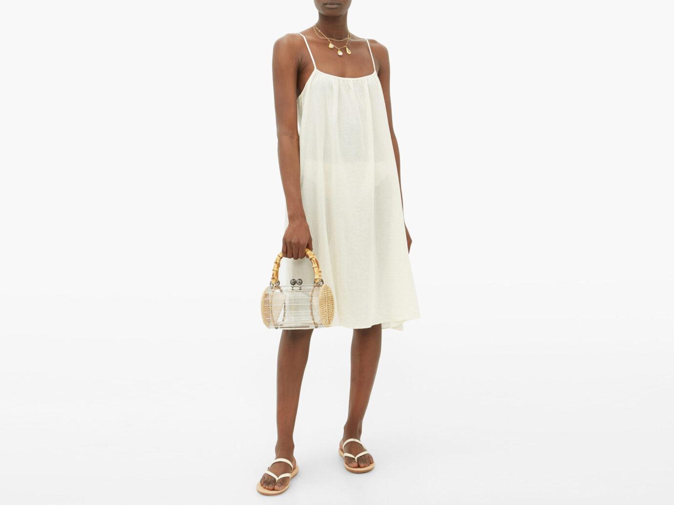 Loup Charmant Cotton-Poplin Slip Dress
