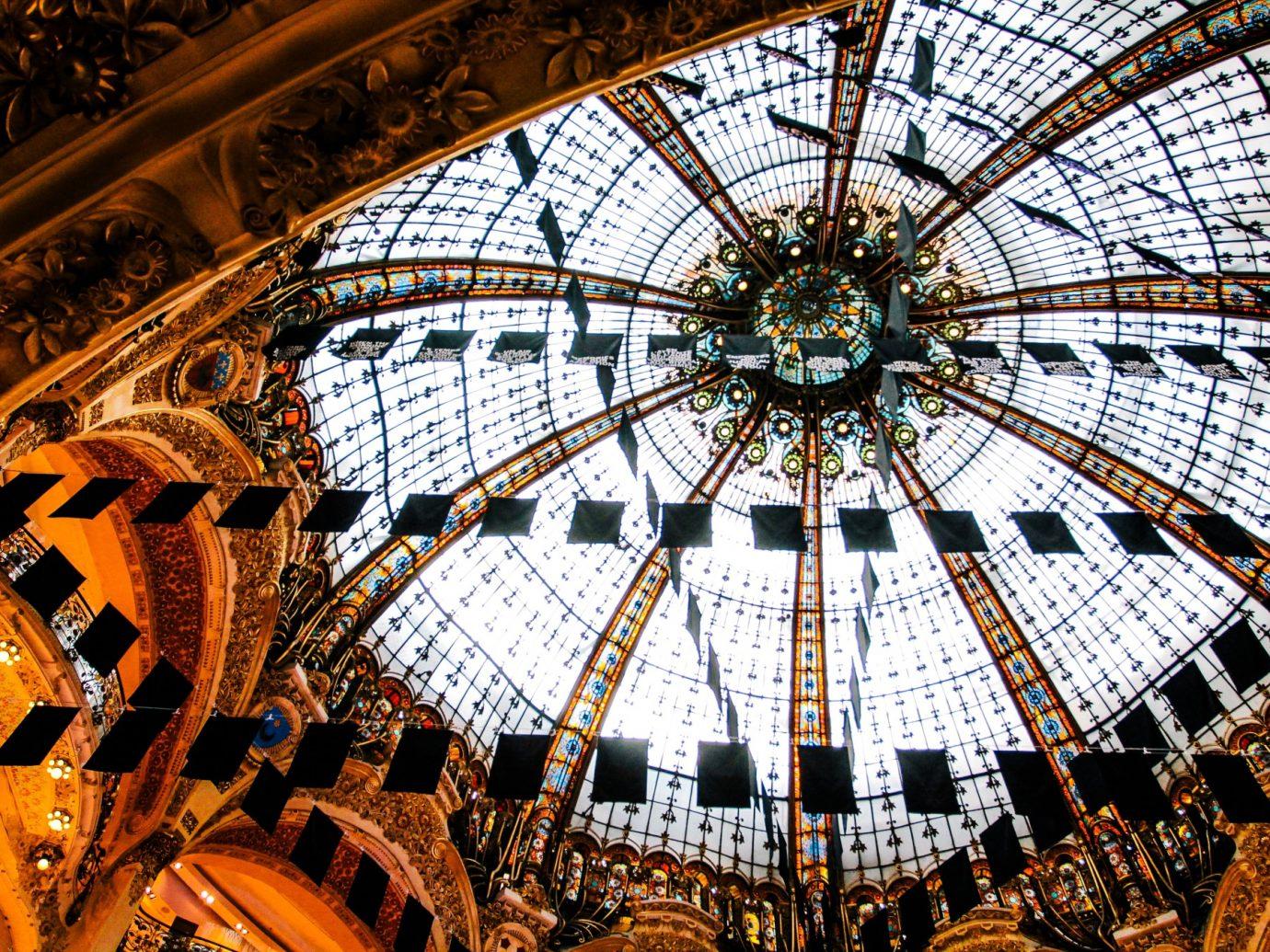 ceiling of Galeries Lafayette, paris