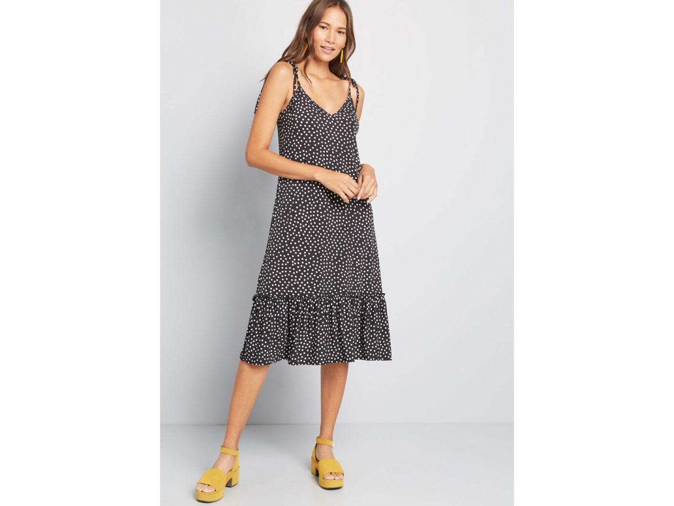 Modcloth's It's a Go Tie Shoulder Dress