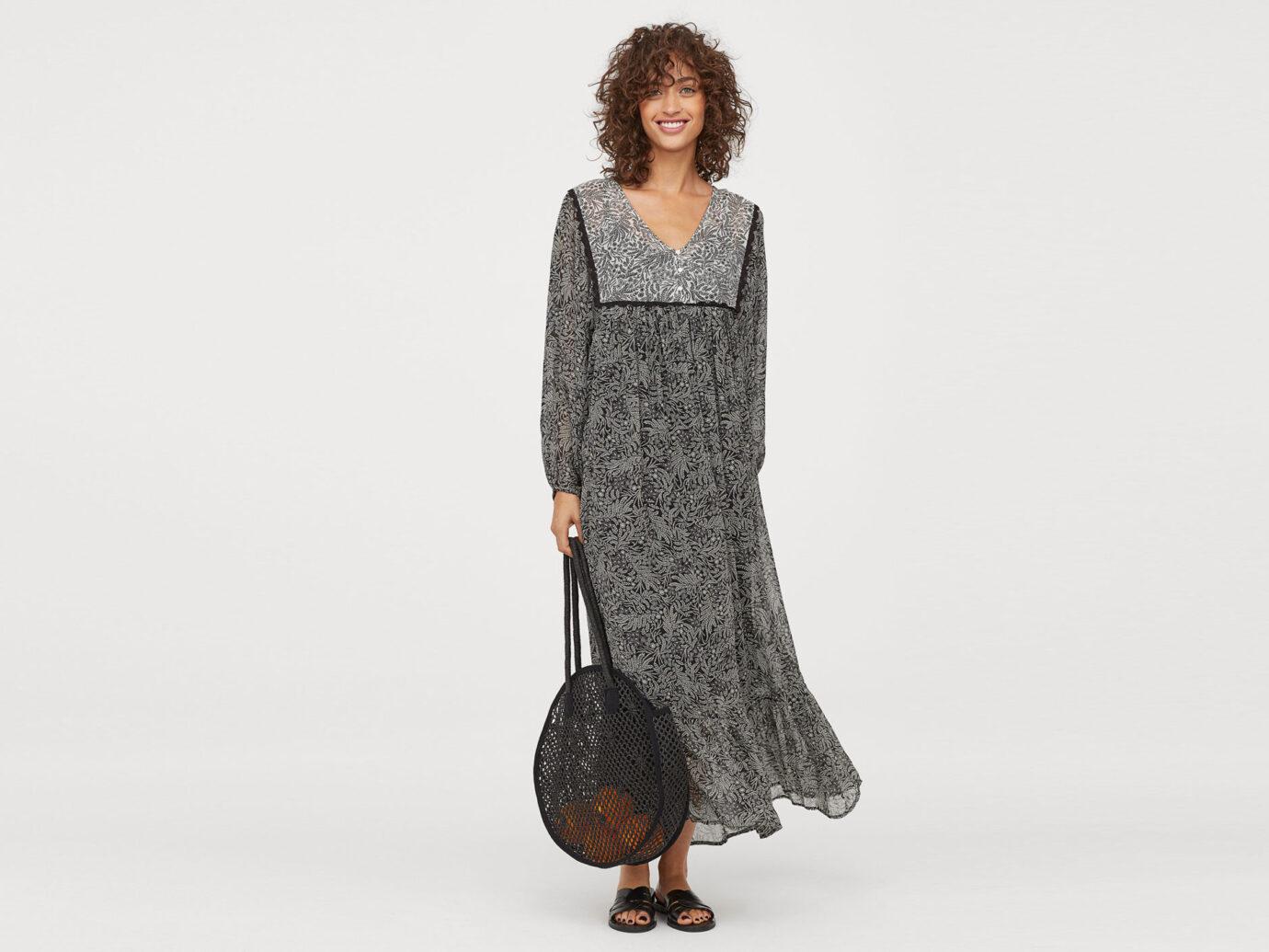 H&M Patterend Chiffon Dress