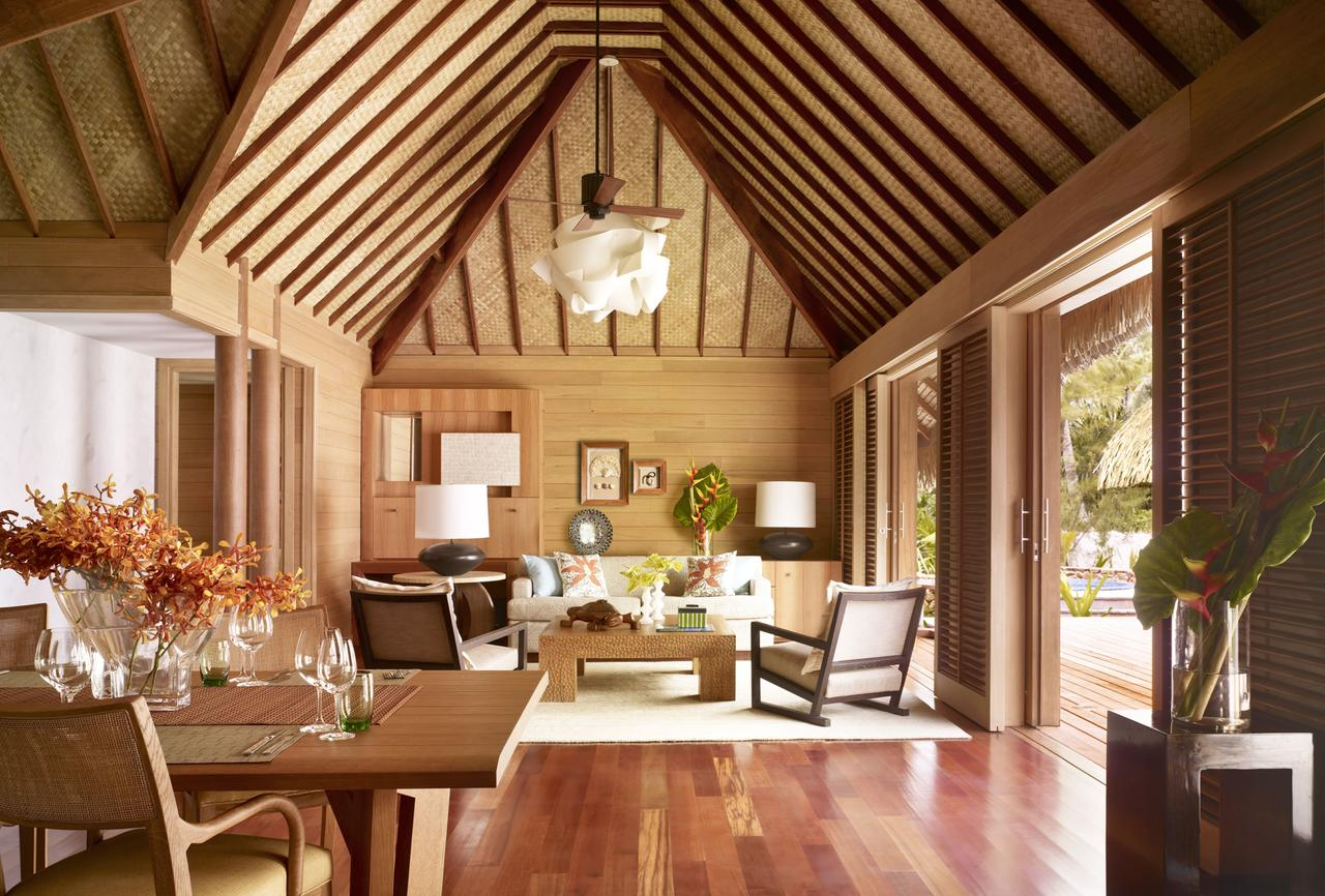Living room at Four Seasons Bora Bora