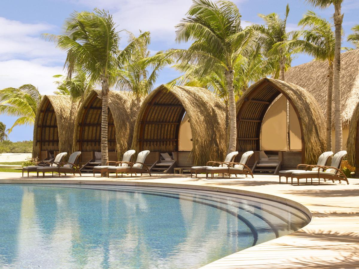 Pool and cabanas at Four Seasons Bora Bora