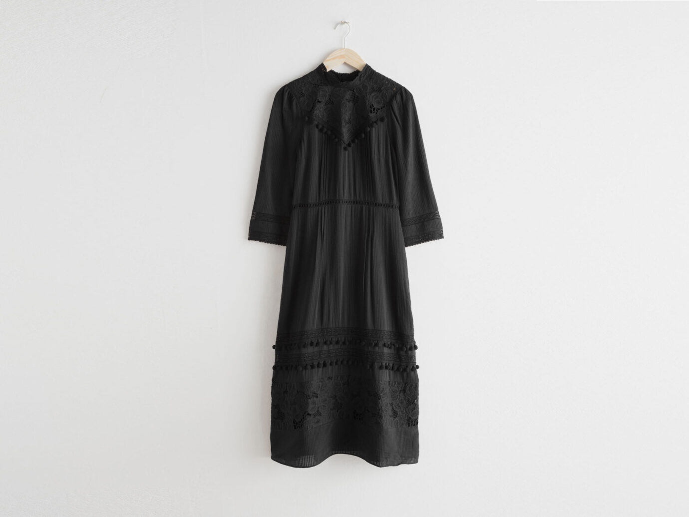 & Other Stories Lace Midi Dress