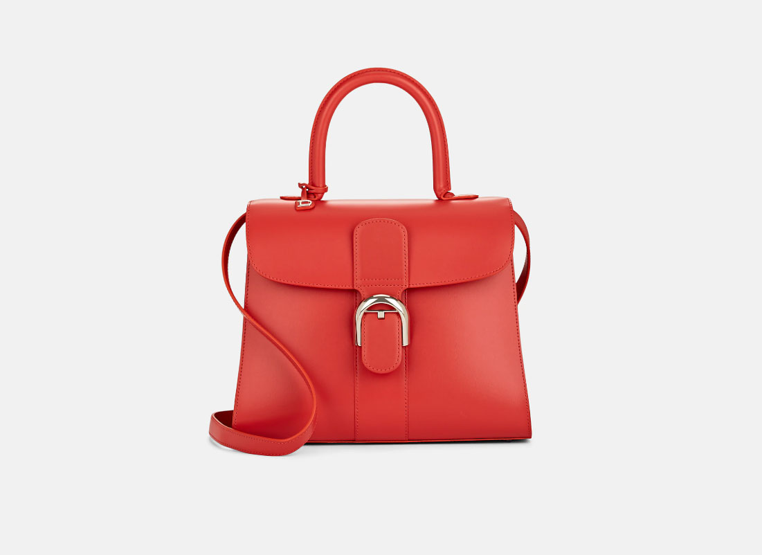 Delvaux Brillant MM Leather Satchel