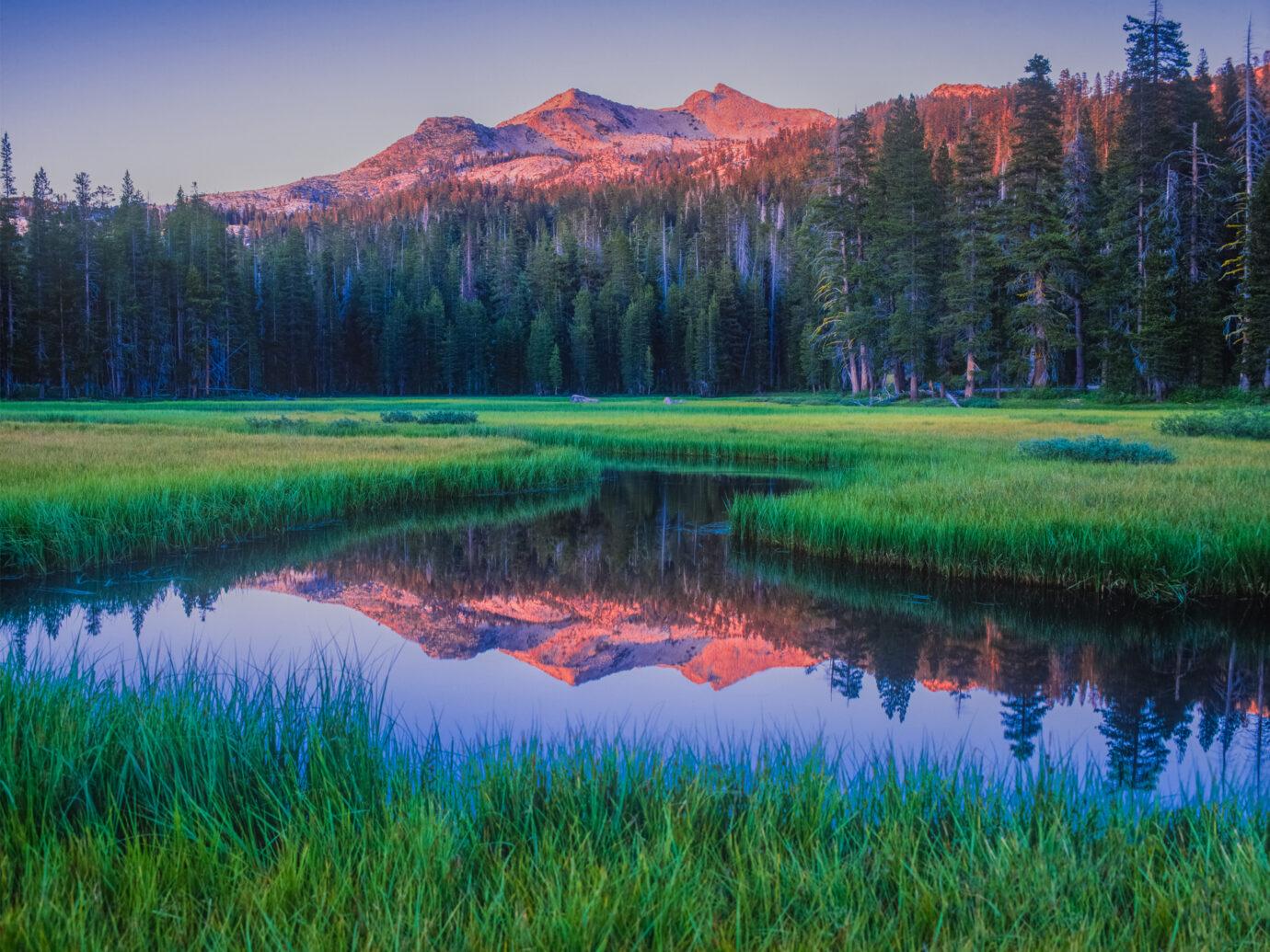 near Lake Tahoe, serene destination, early morning on the lake, refreshing, fresh start, calm water