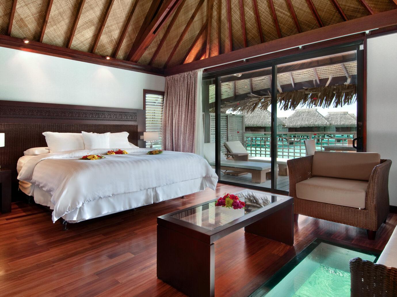 Bedroom at Hilton Moorea