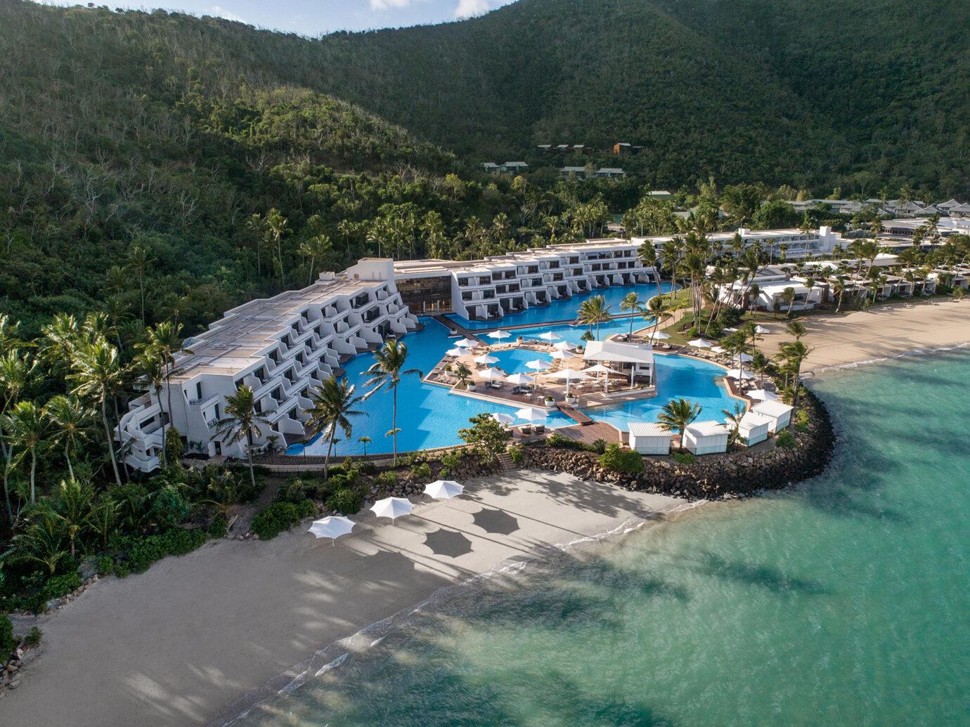 Aerial view of InterContinental Hayman Island Resort