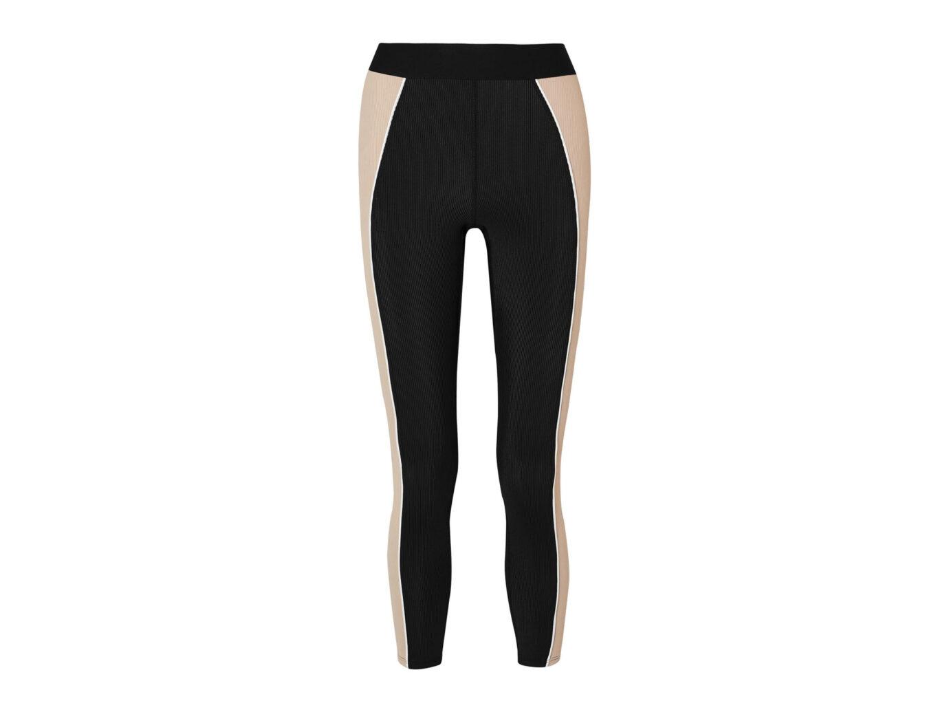Heroine Sport Fusion Color-Block Ribbed Stretch Leggings