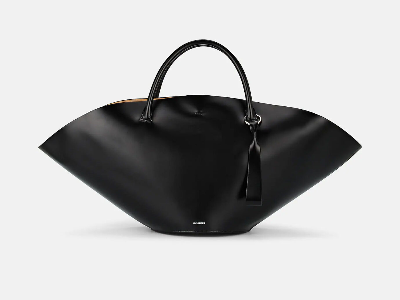 Jil Sander Sombrero Medium Leather Tote Bag