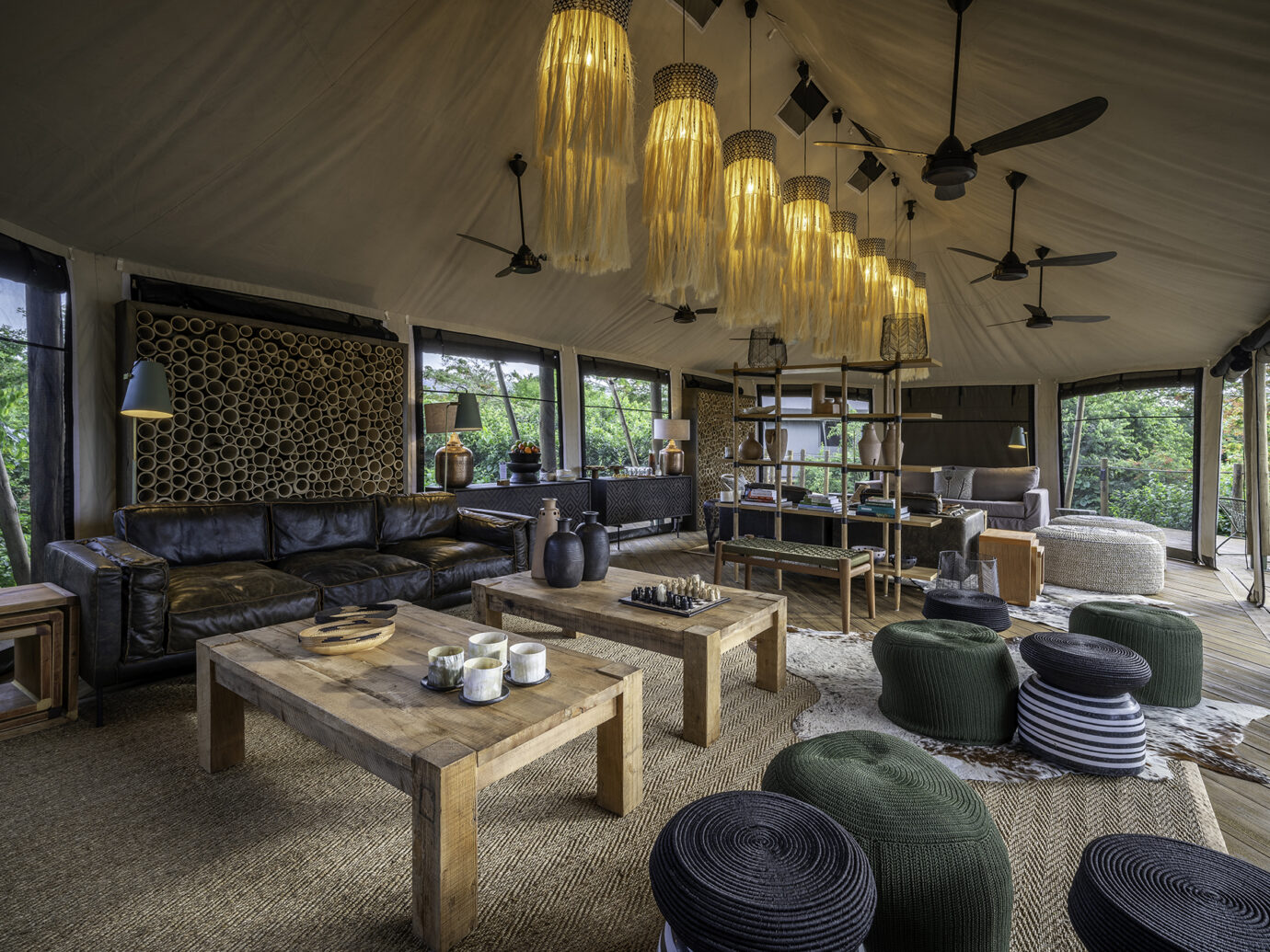Living room at Wilderness Safaris Magashi, Rwanda