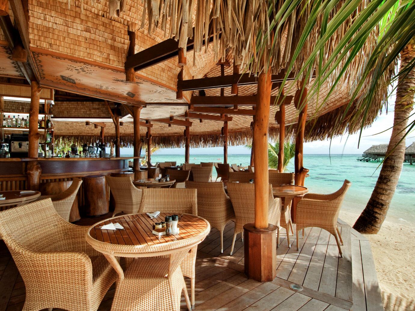 Outdoor bar at Hilton Moorea