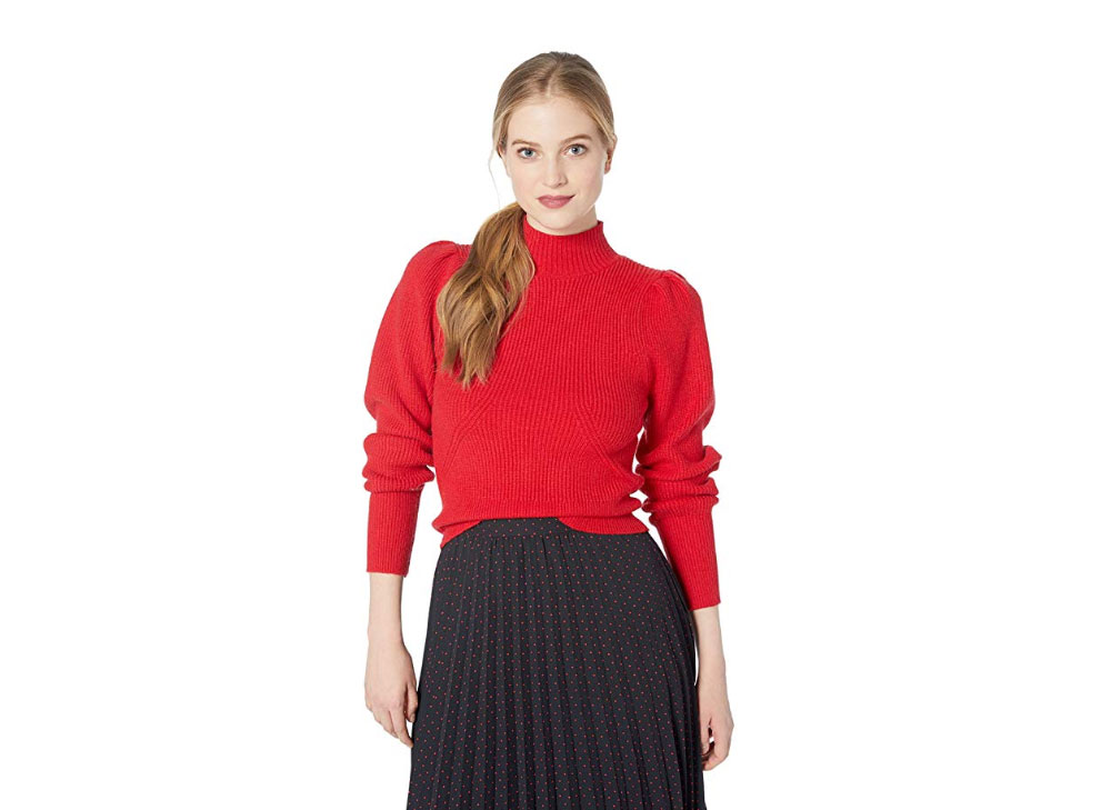 ASTR the Label Puff Sleeve Knit Sweater