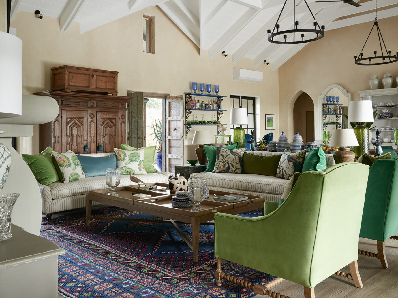 Living area at Royal Malewane