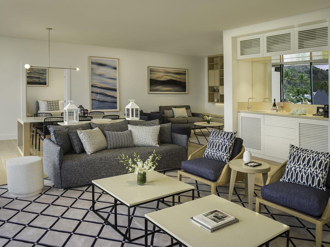Living room at InterContinental Hayman Island Resort