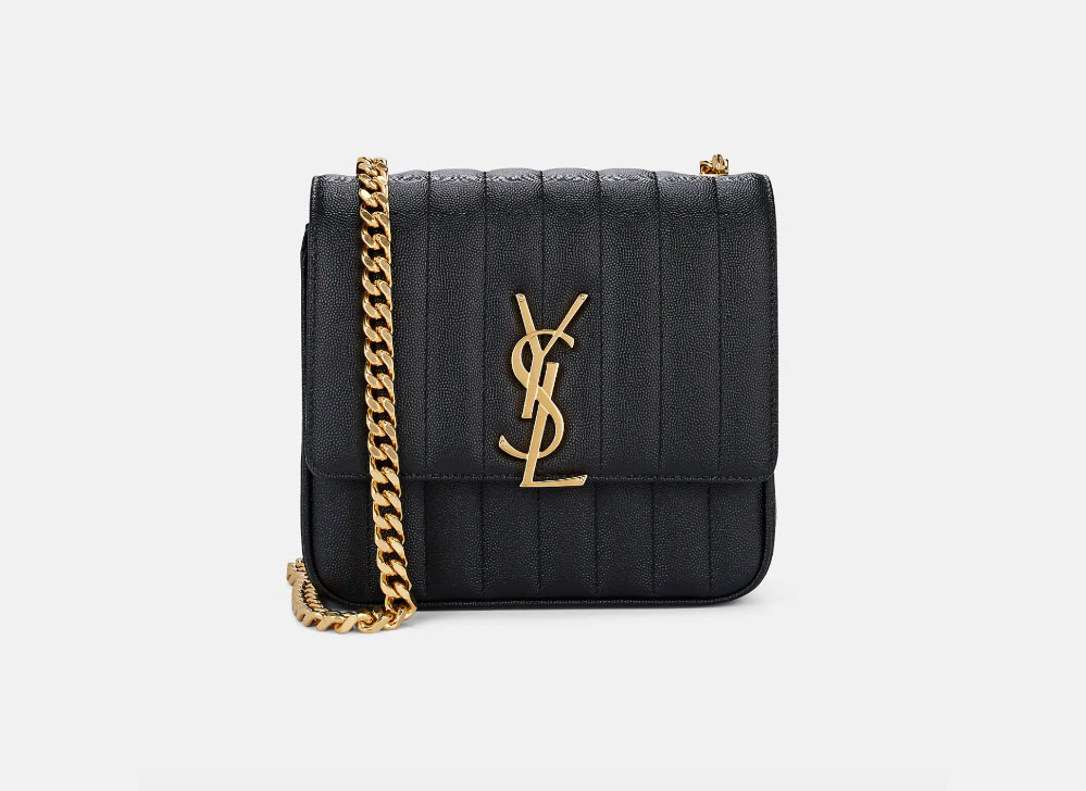 Saint Laurent Monogram Vicky Medium Leather Chain Bag