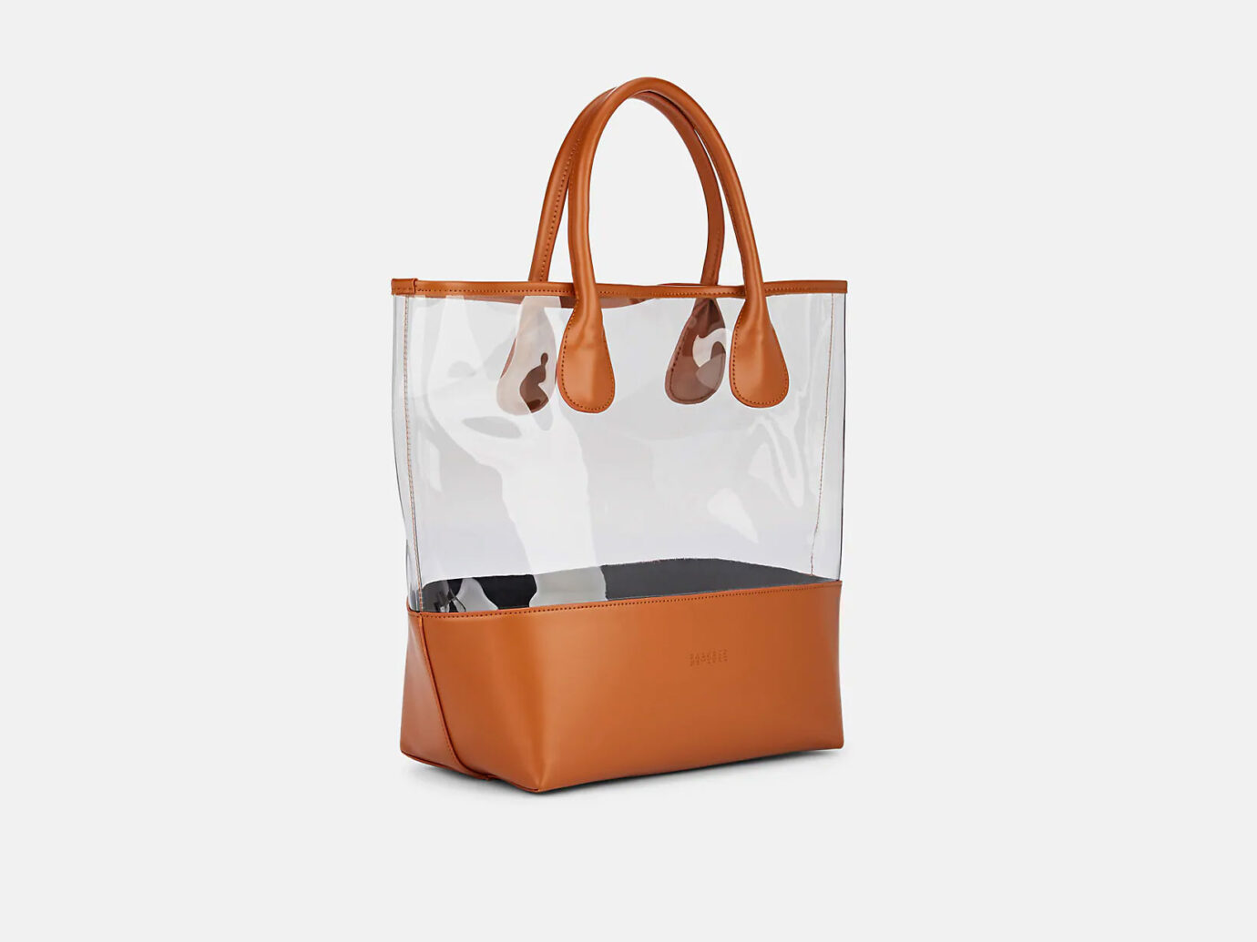 BARNEYS NEW YORK Jelly Leather-Trimmed PVC Tote Bag