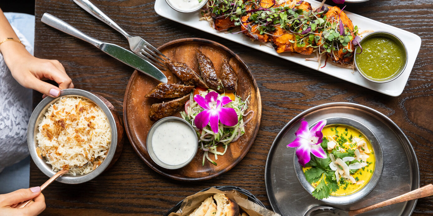 Dishes from Babu Ji in New York