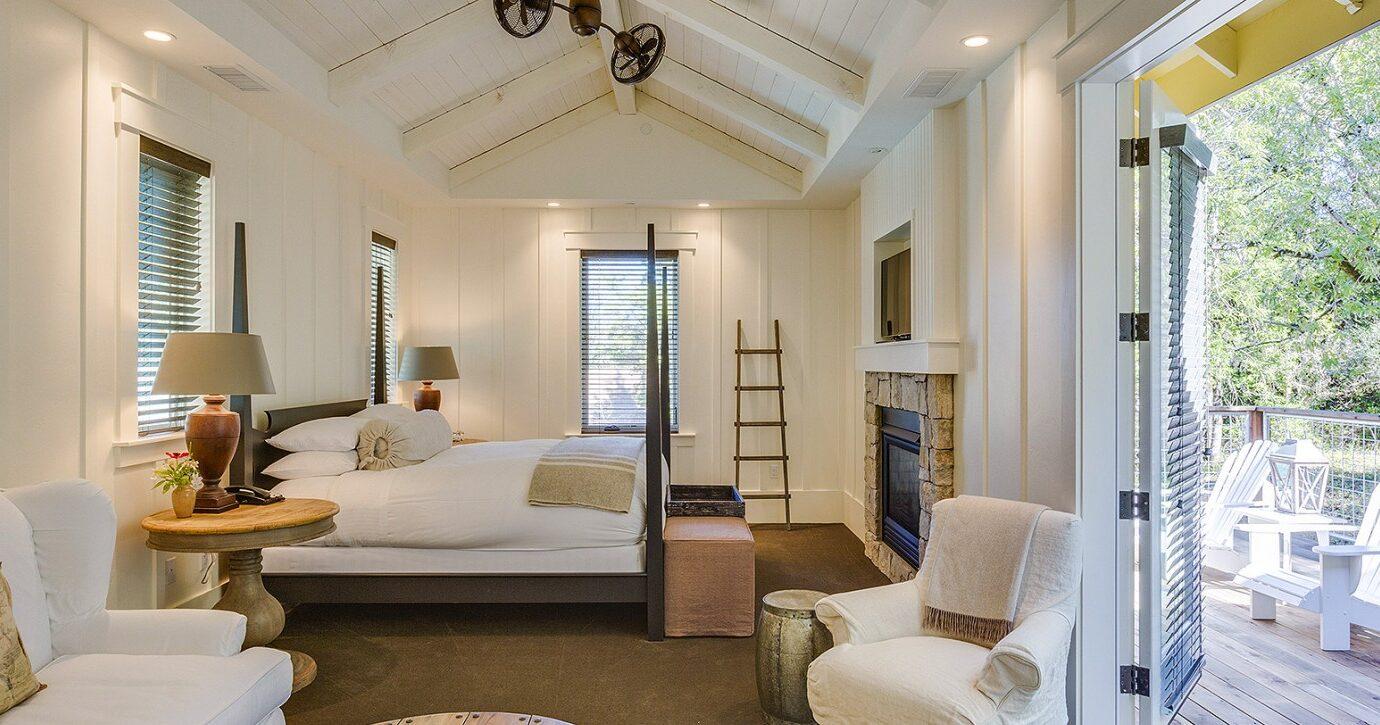 Deluxe bedroom at Farmhouse Inn