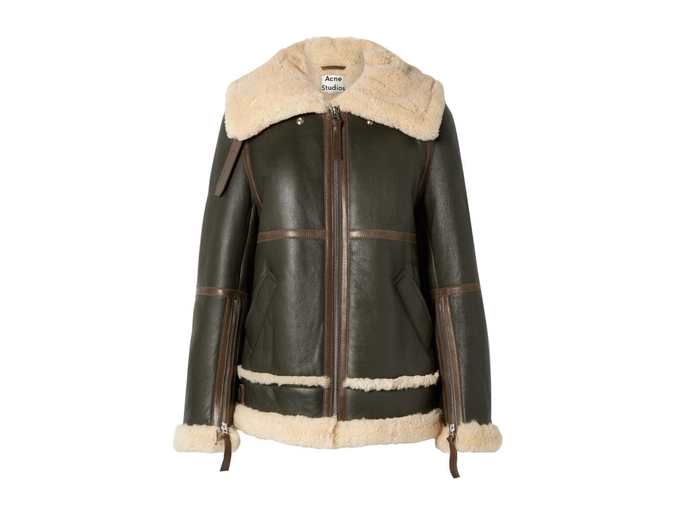 Acne Studios Raf Long Shearling Jacket