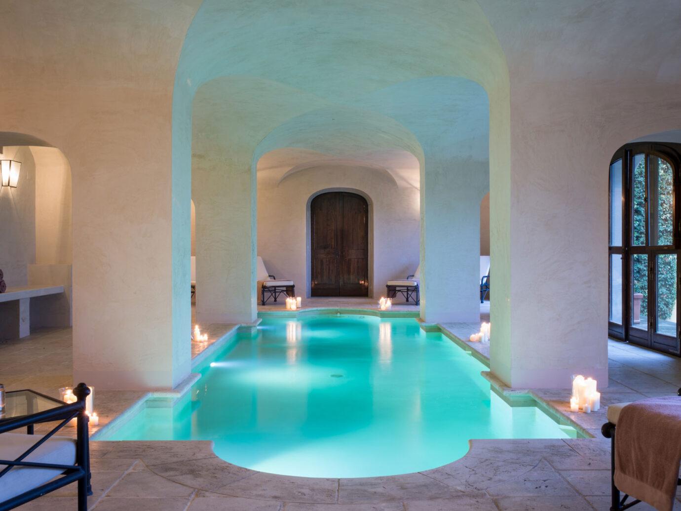 Il Borro spa indoor pool
