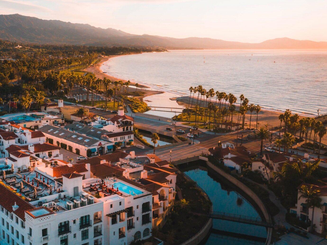Aerial view of Hotel Californian, Santa Barbara, CA