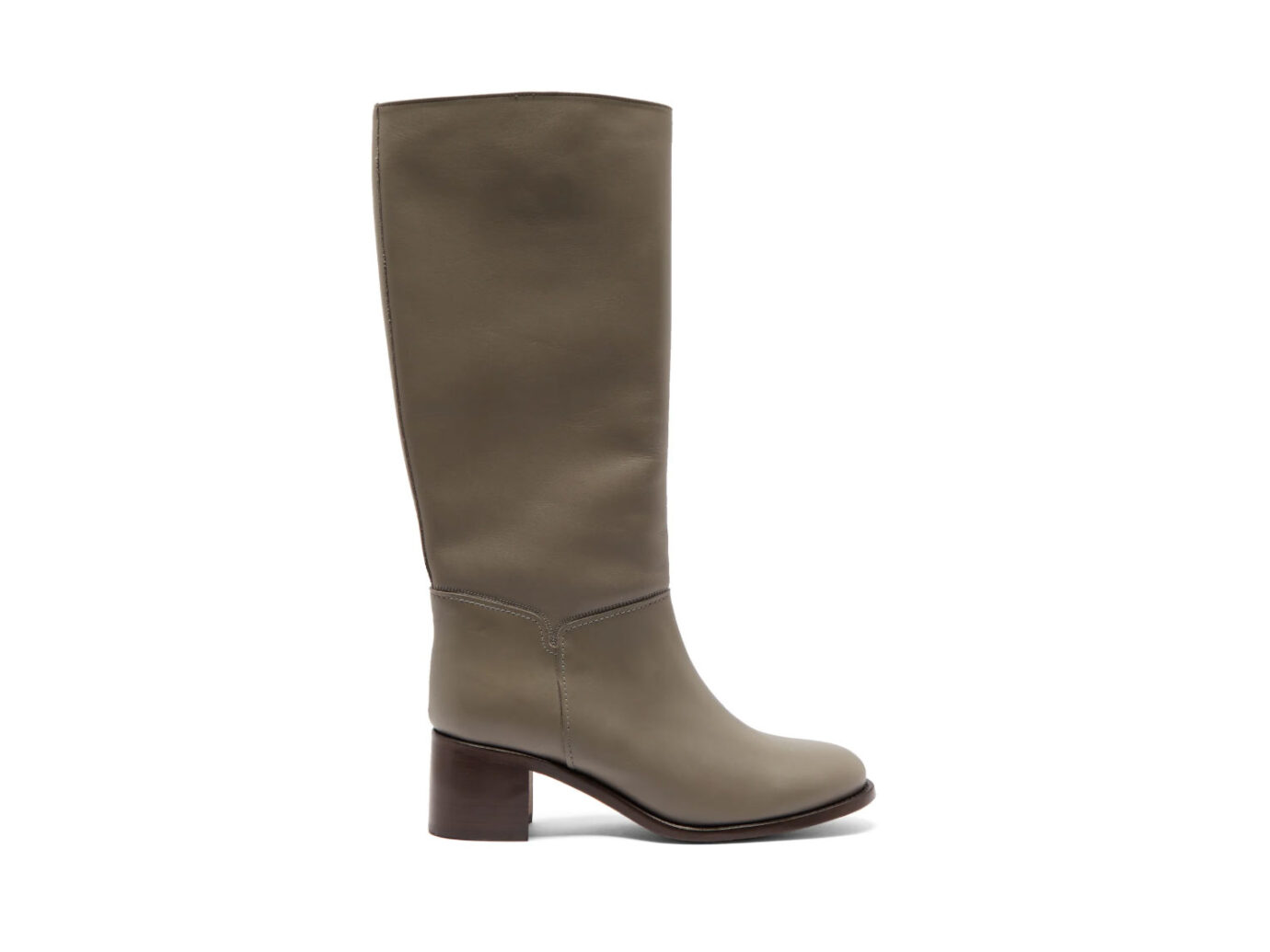 A.P.C Iris leather knee-length boots