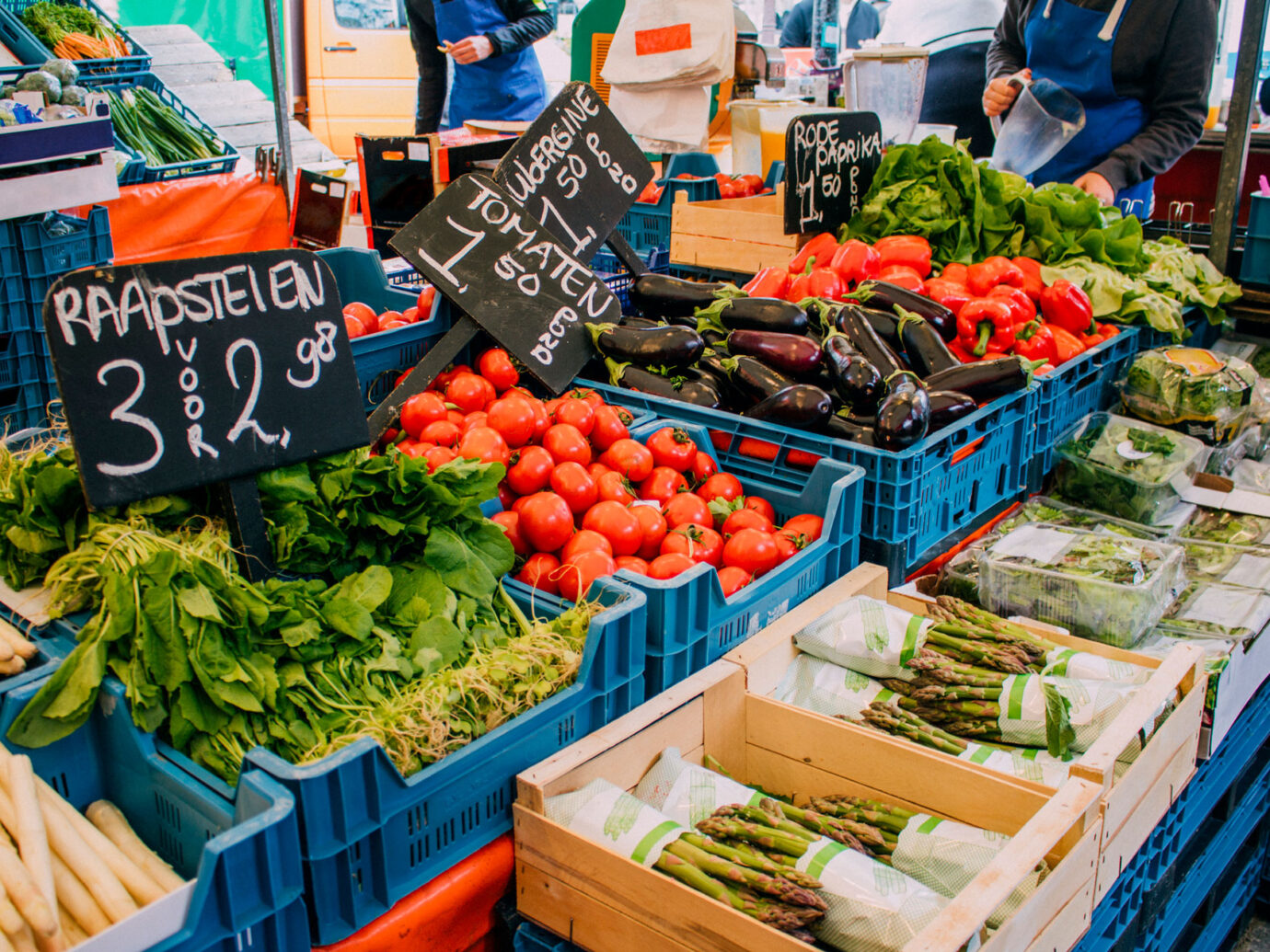 Food market in Amsterdam
