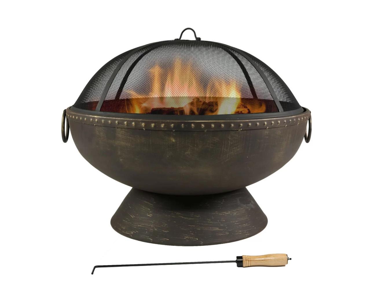 Tuscola Firebowl Steel Wood Burning Fire Pit