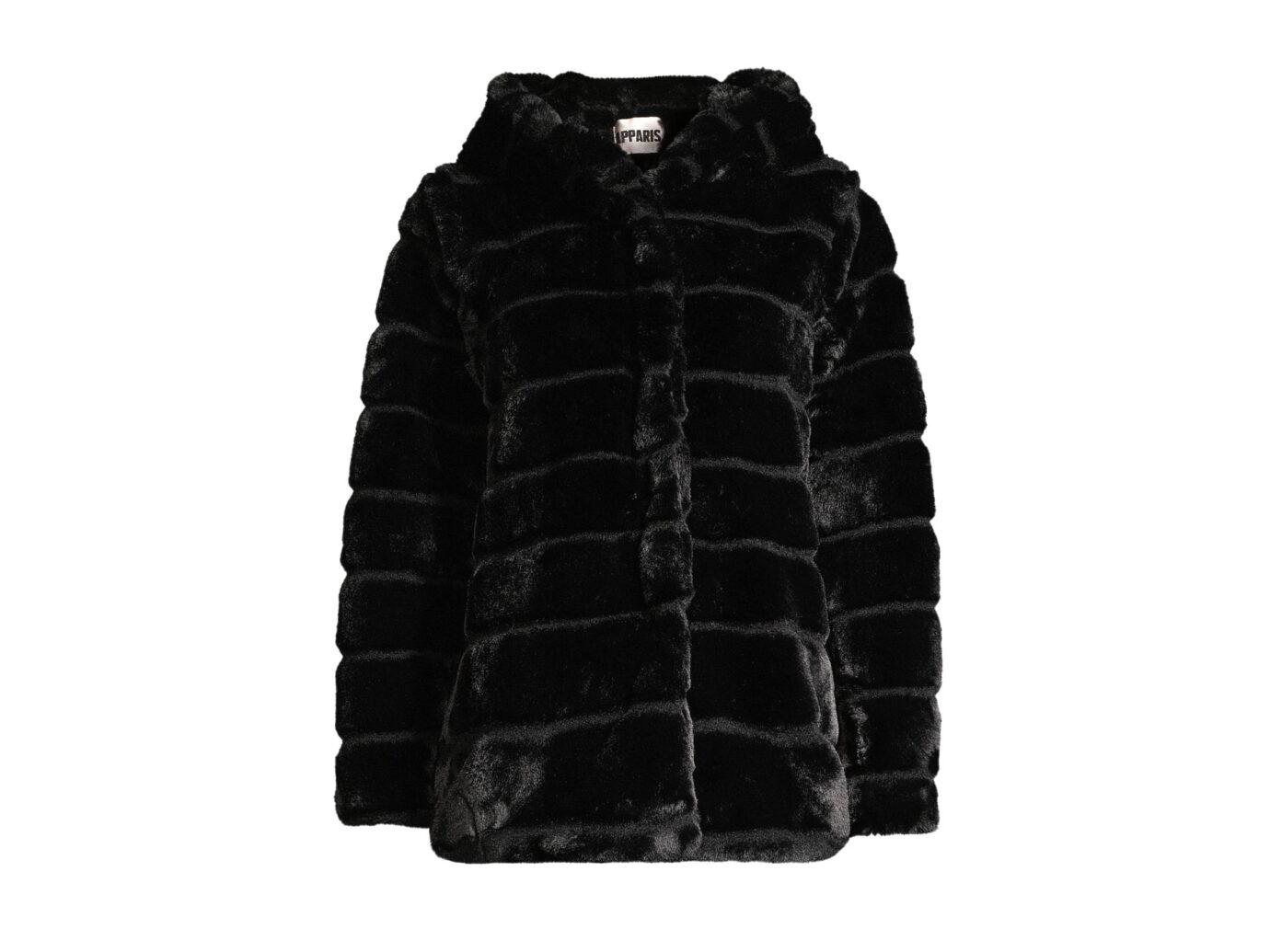 Apparis Goldie Hooded Faux Fur Jacket