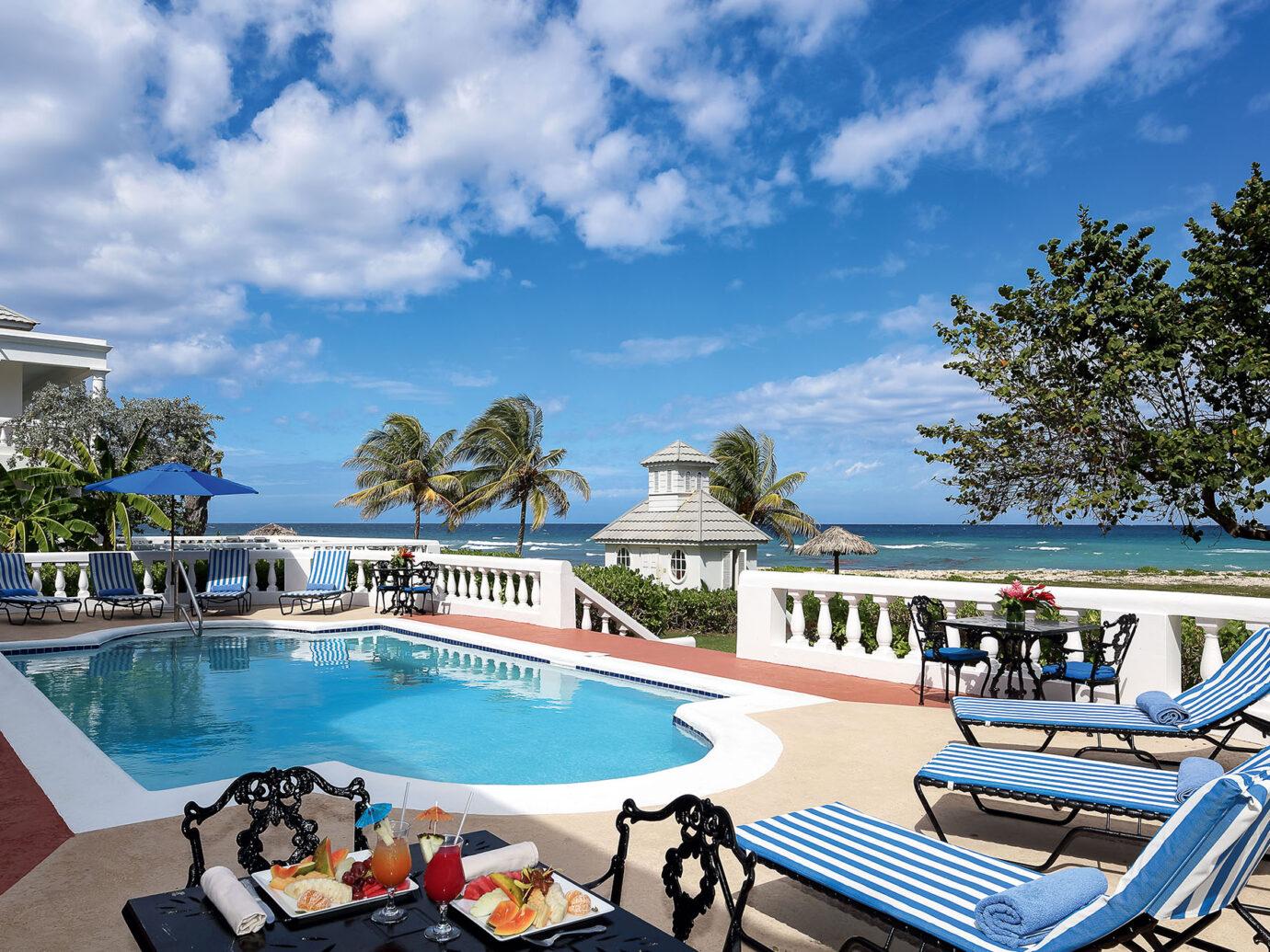 Pool of a villa at Half Moon, Montego Bay, Jamaica