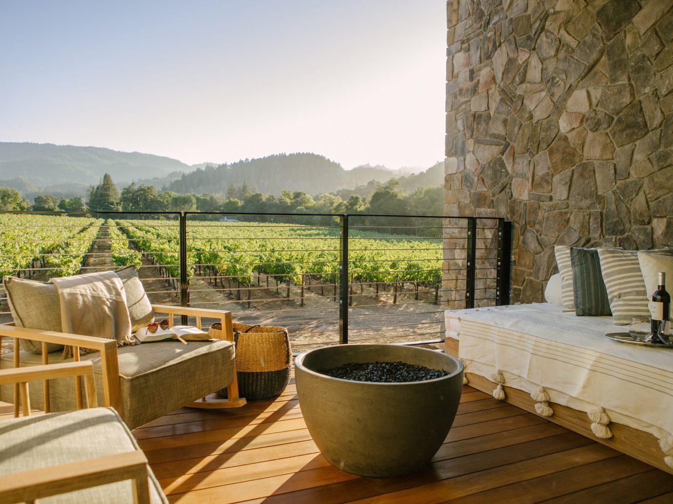 Patio at Las Alcobas, A Luxury Collection Hotel, Napa Valley