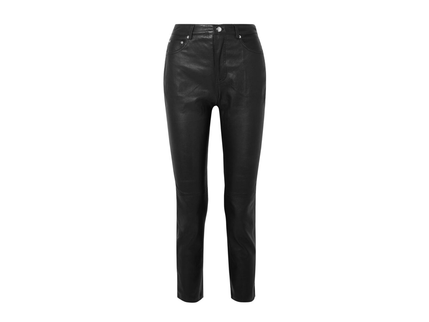 GRLFRND Shiloh leather straight-leg pants