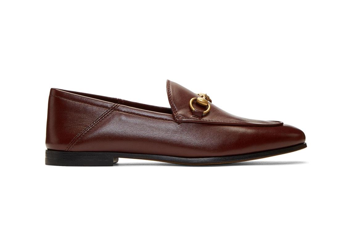 Gucci Burgundy Horsebit Loafers