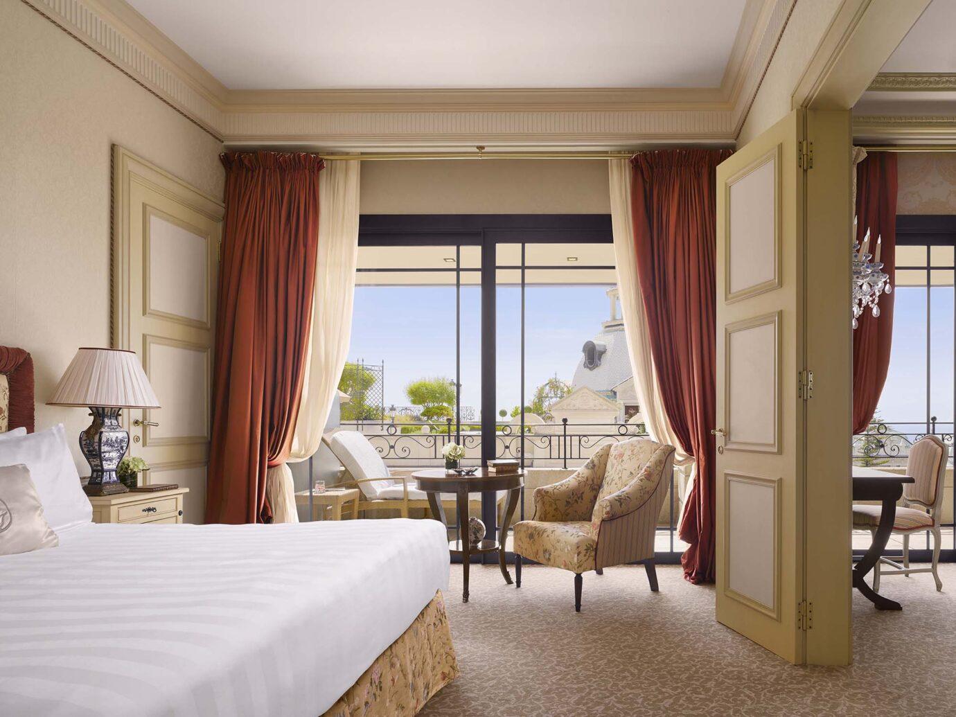 Bedroom at Exterior of Hotel Metropole in Monoco