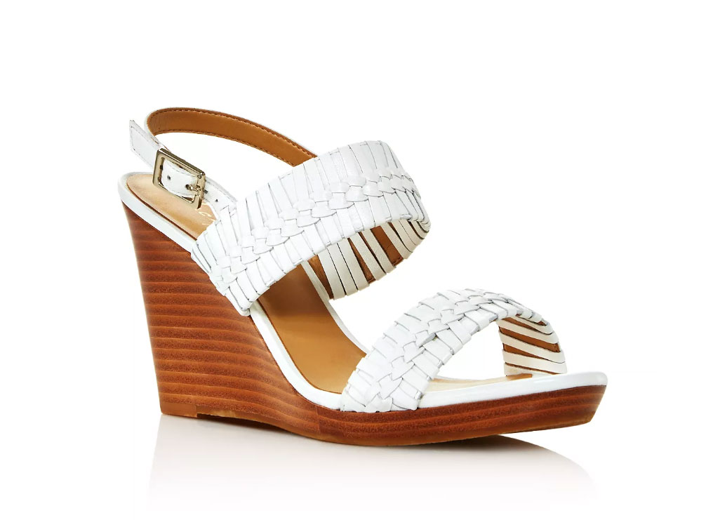 Jack Rogers Women's Tinsley Woven Leather Wedge Sandals