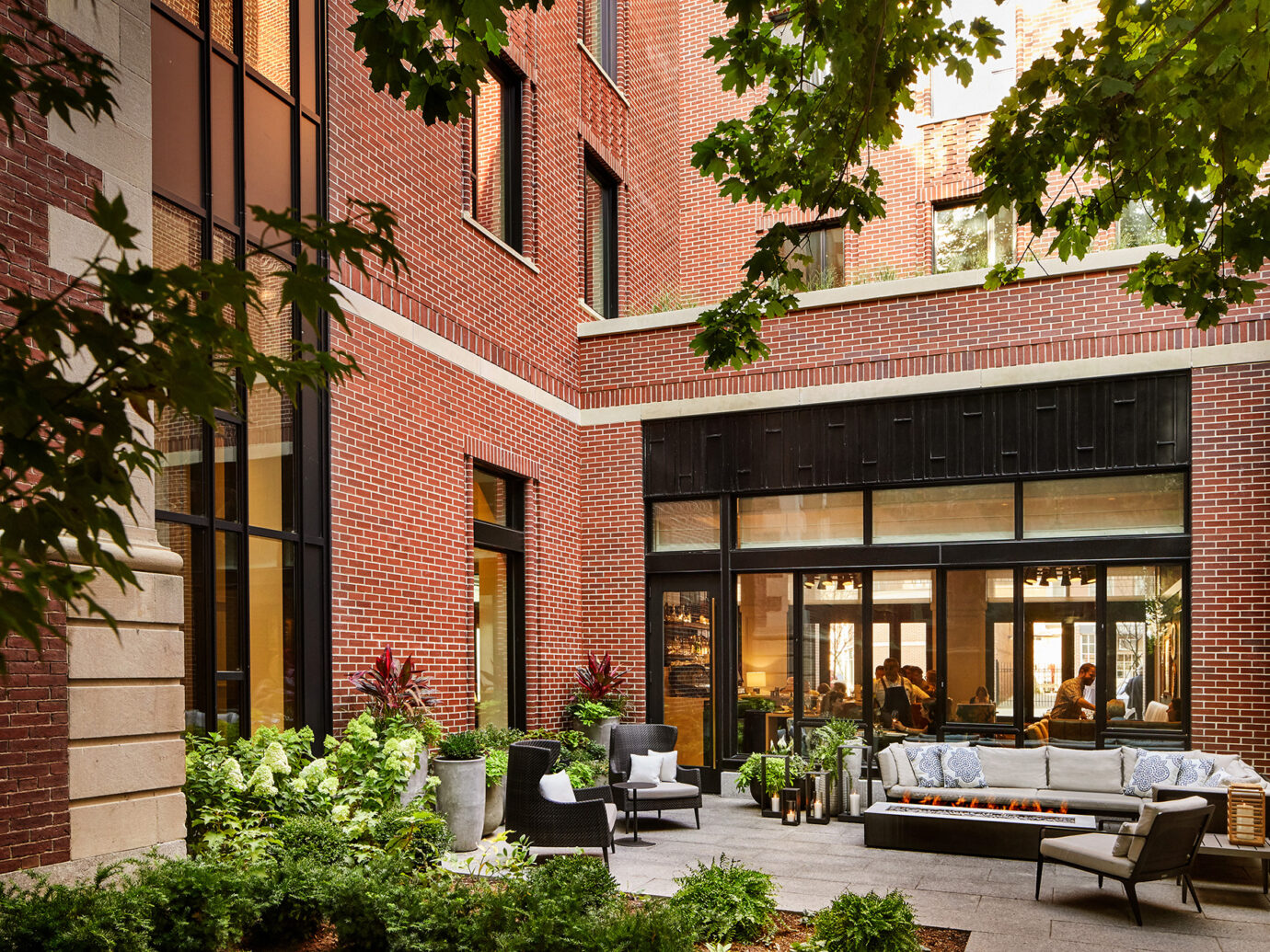 Courtyard at The Whitney in Boson
