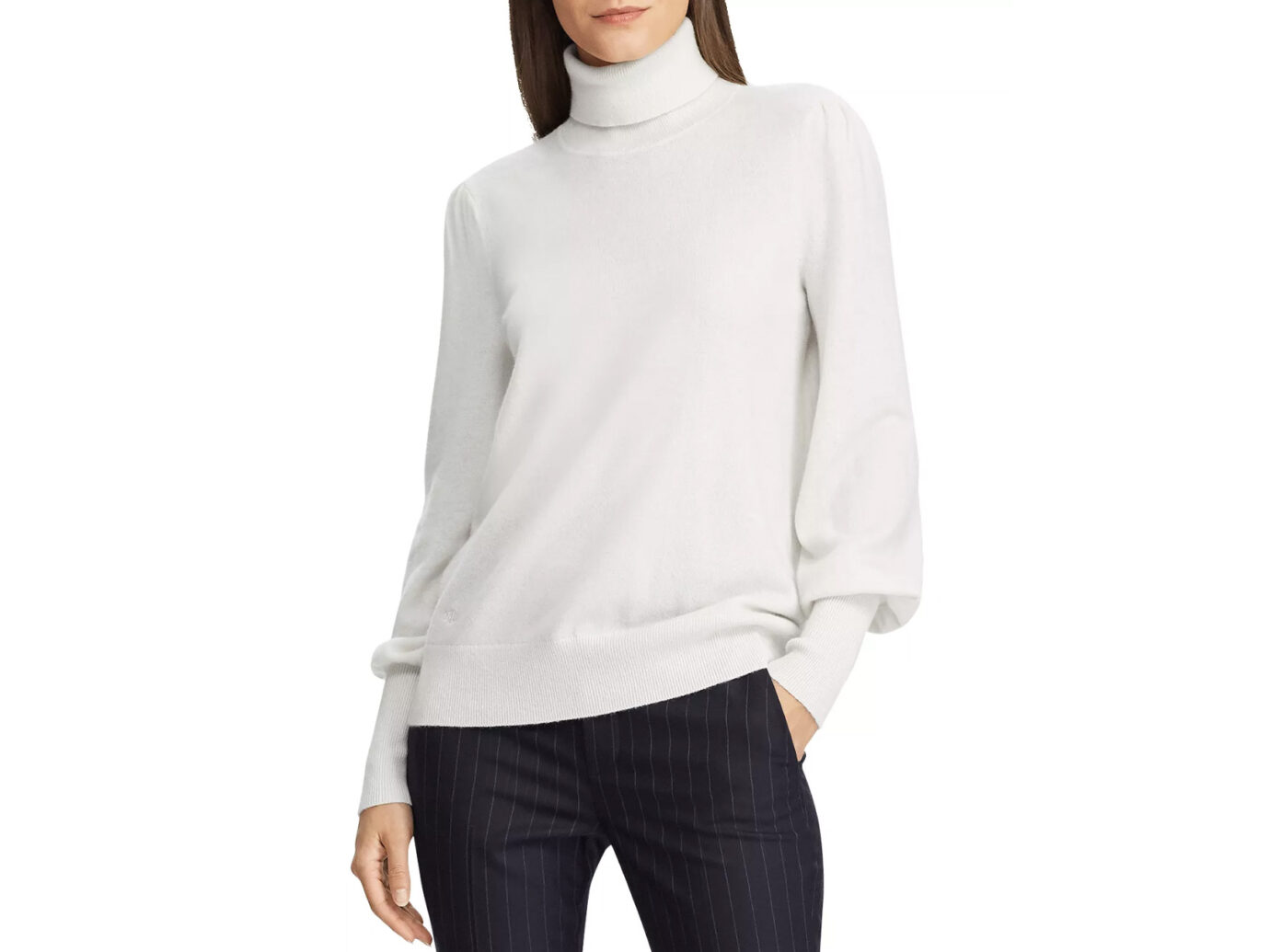 Lauren Ralph Lauren Washable Cashmere Turtleneck Sweater
