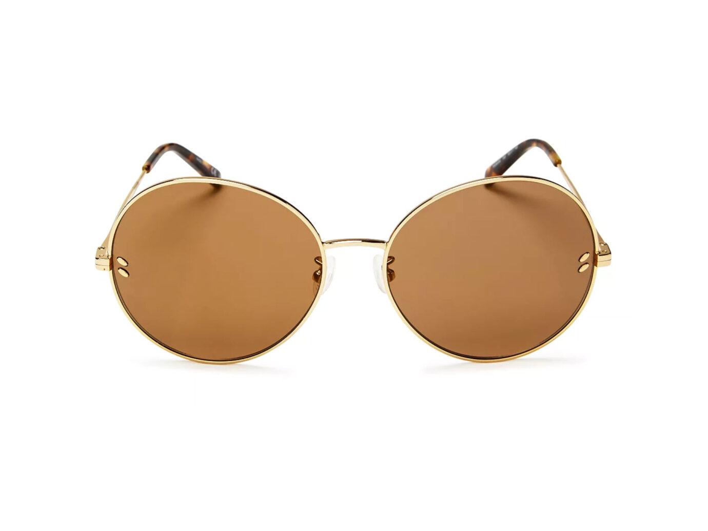 Stella McCartney Mirrored Round Sunglasses