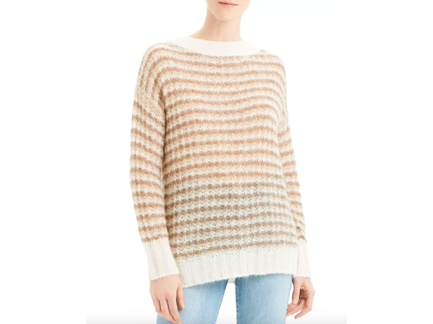 Theory Striped Boat-Neck Sweater