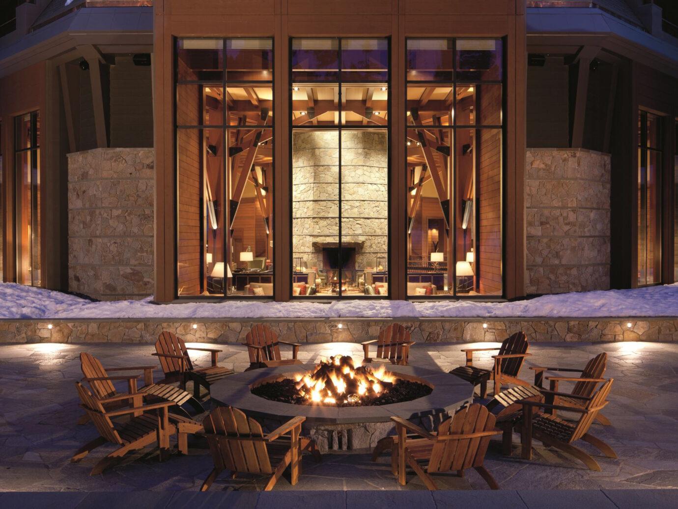 Fire pit at Ritz-Carlton Bachelor Gulch, Avon, CO