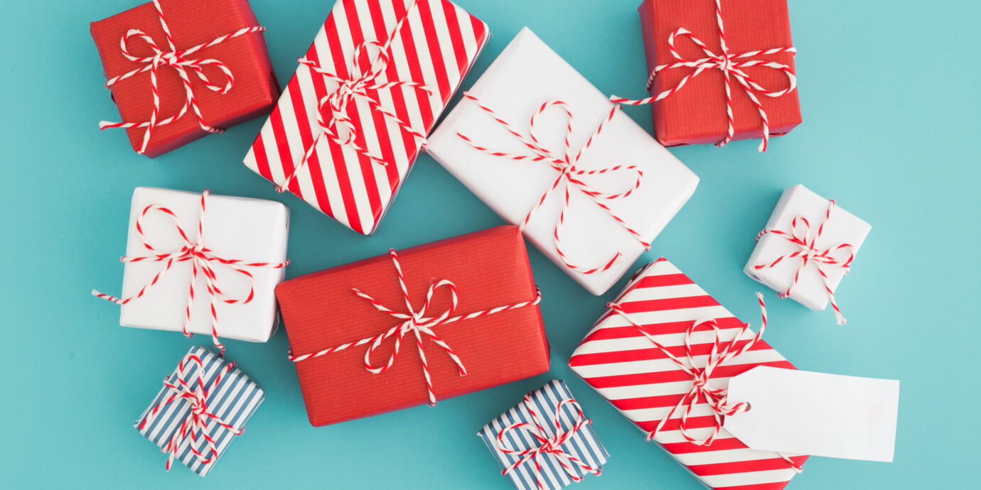 Holiday Giveaway wrapped gifts
