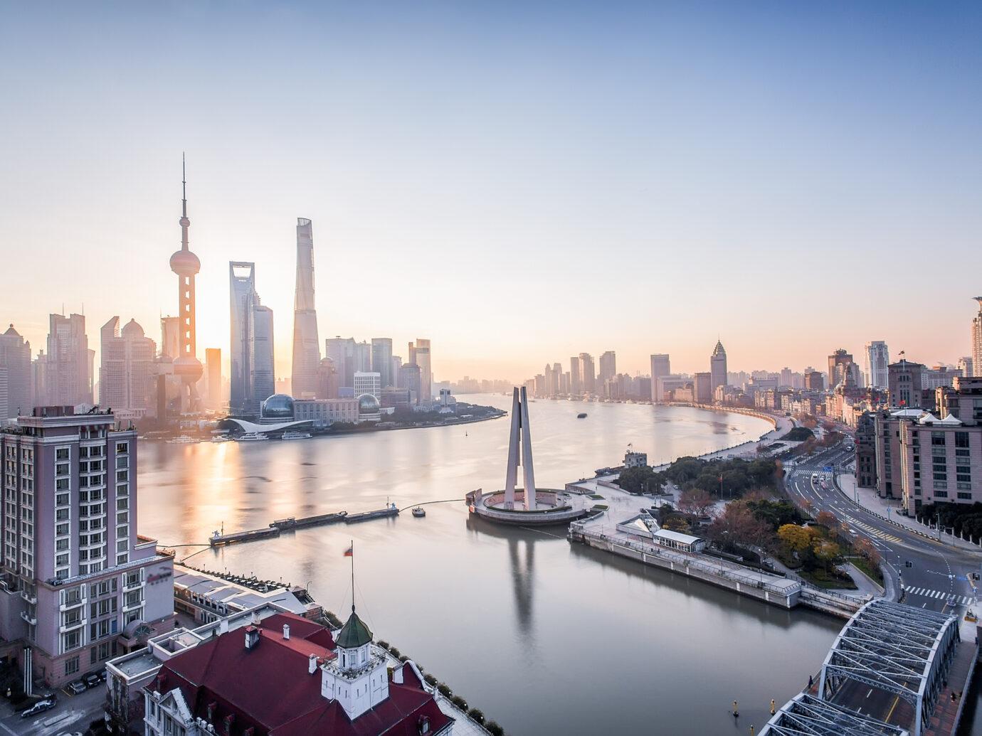 shanghai pudong sunrise