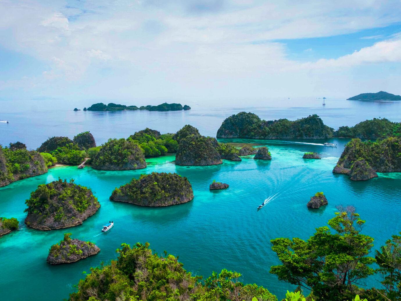 Marvelous view of Raja Ampat island, Indonesia