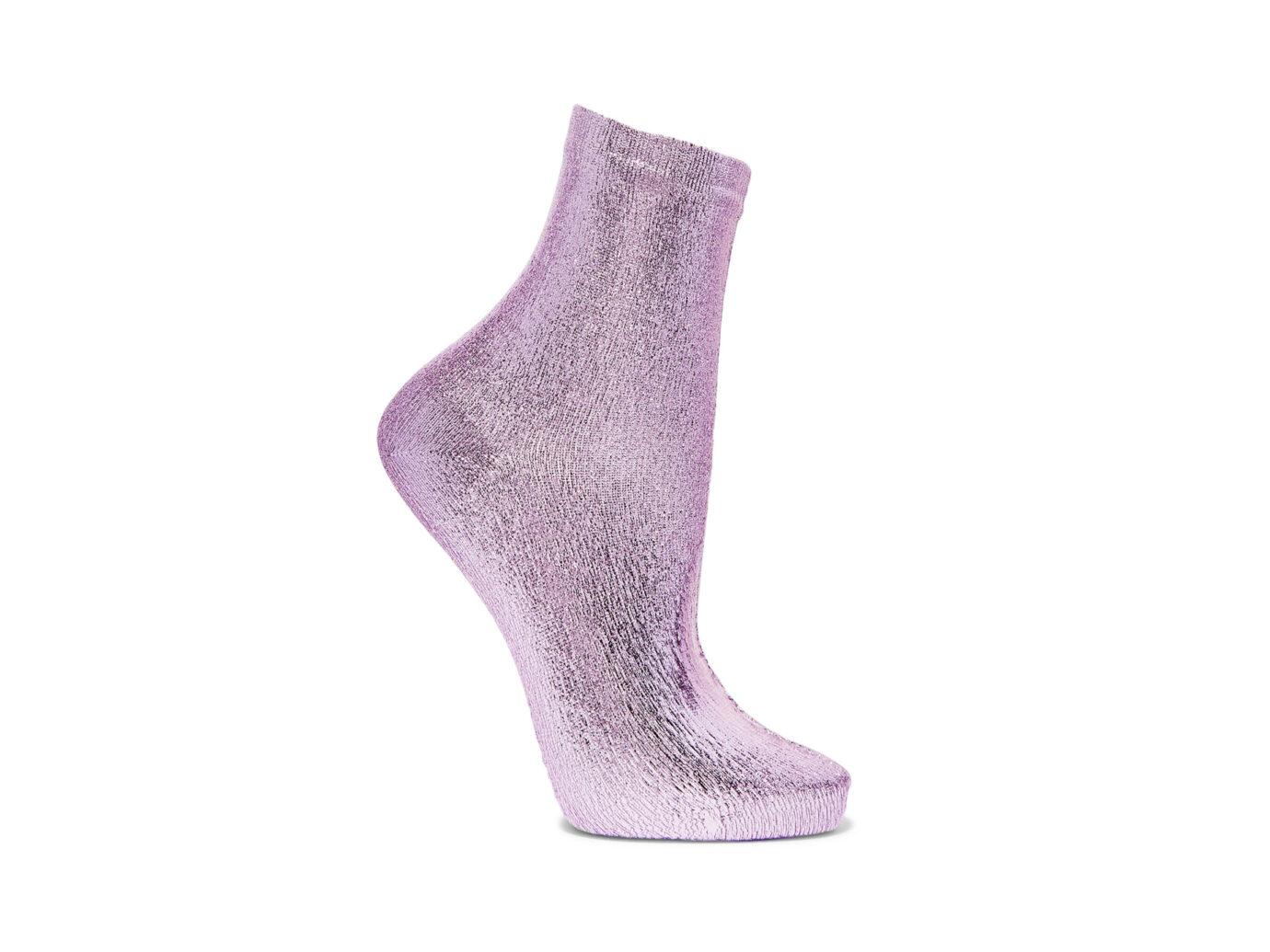 Maria La Rosa Metallic Coated Socks