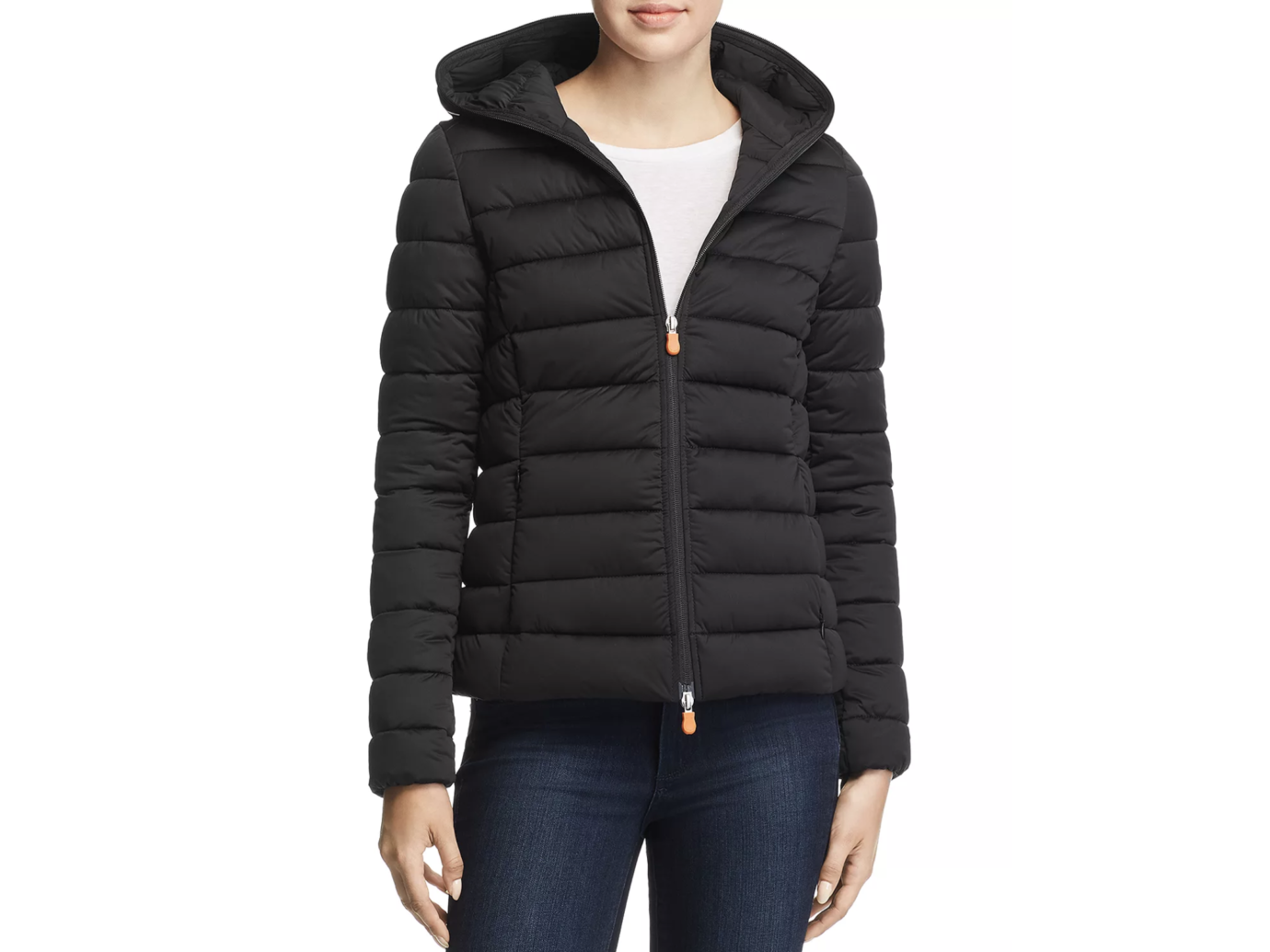 Save The Duck Packable Hooded Short Puffer Coat