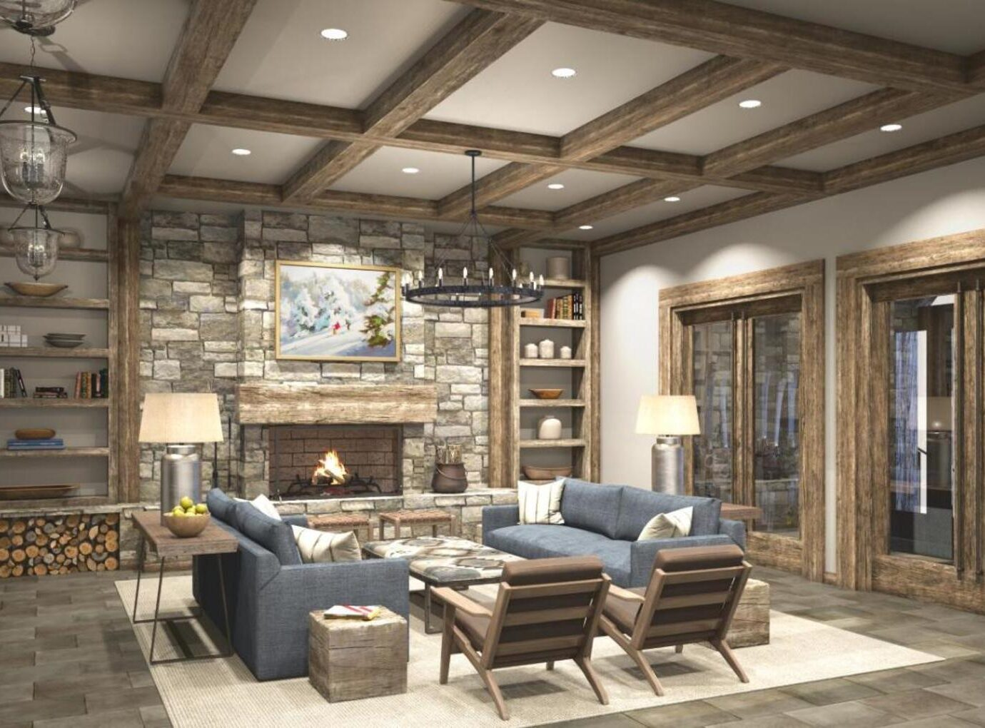 Lounge at Snowpine Lodge, Alta, UT