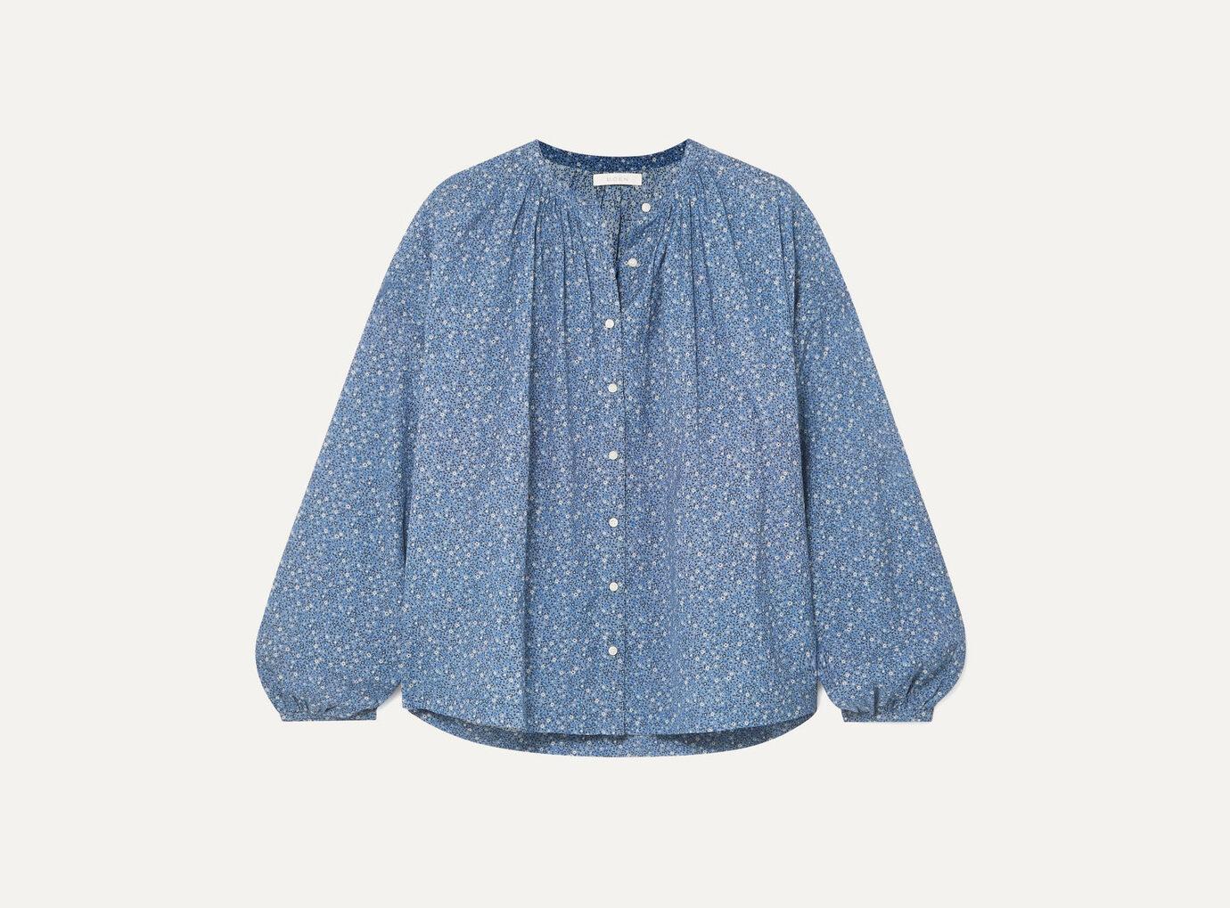 DÔEN Jane floral-print cotton-blend blouse