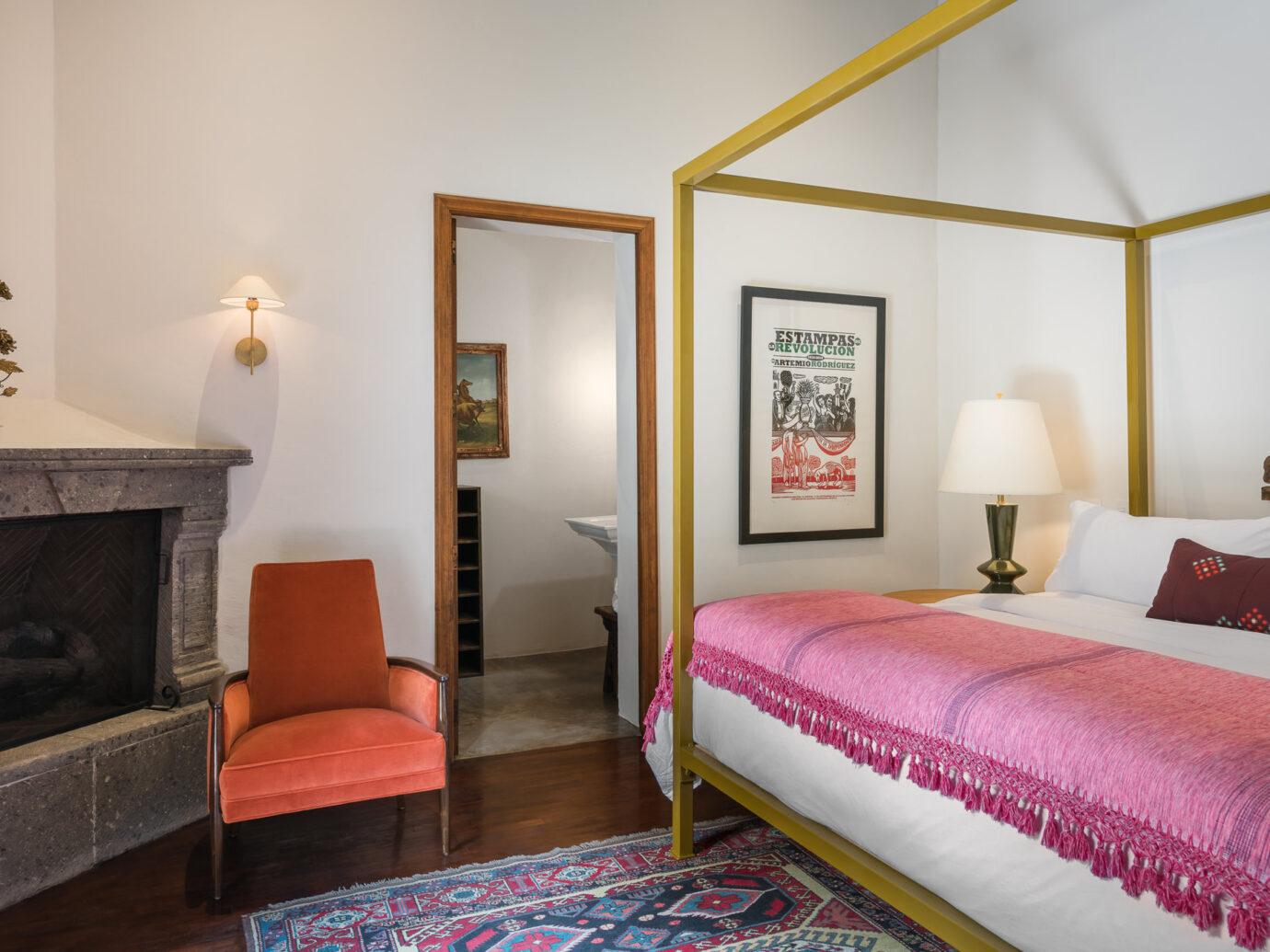 Bedroom at Hotel Amparo, San Miguel de Allende