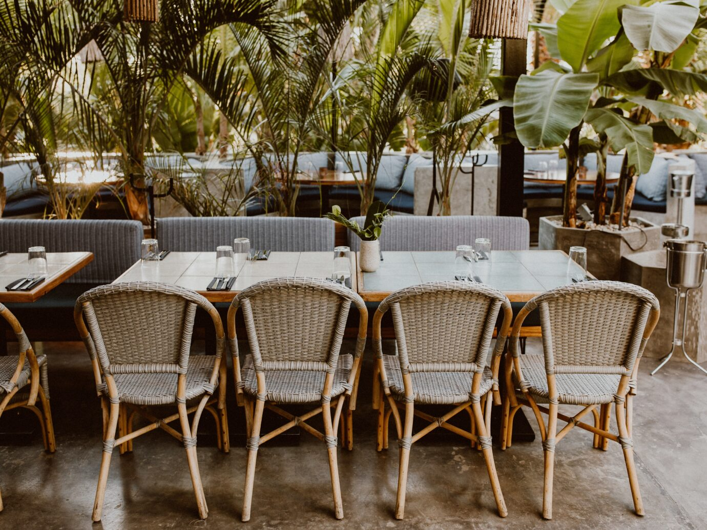 Outdoor dining at Acre in Baja California