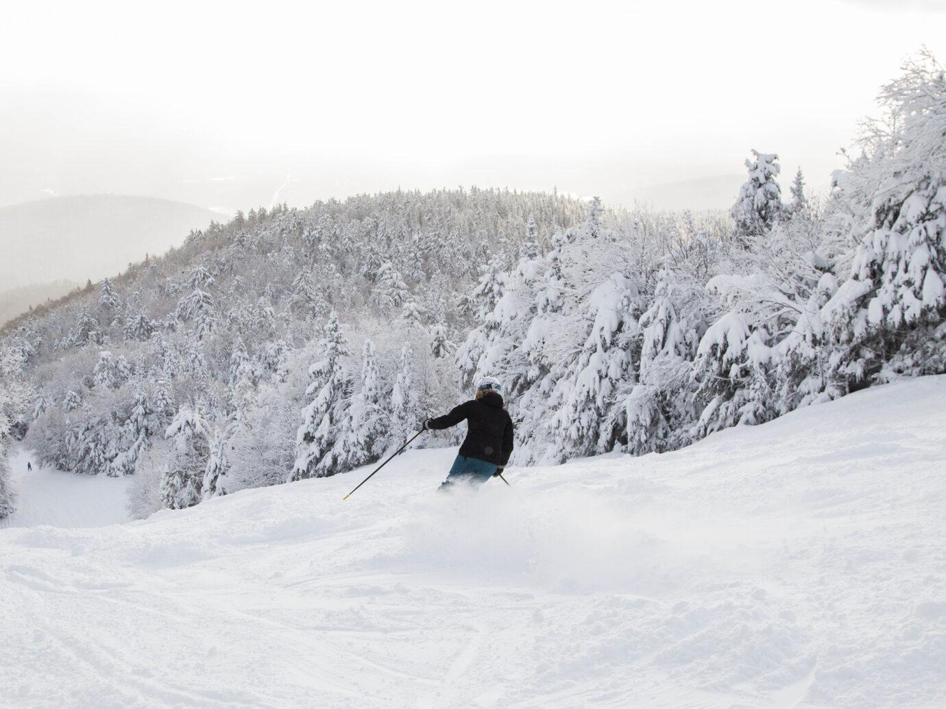 Person skiing on Gore Mountain